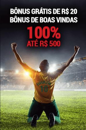 100% até R$ 500 b-bets bonus