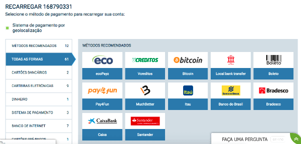 metodos de pagamento 1xbet como funciona