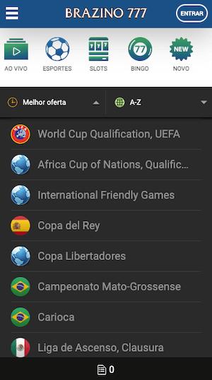 aplicativo brazino jogos em esportes