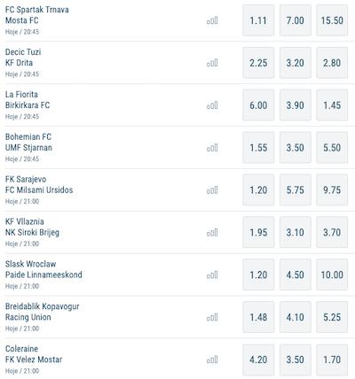 odds sportingbet 15/07/21 uefa