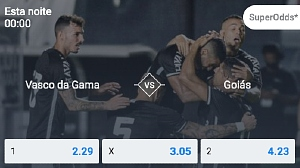 Faça já suas apostas Vasco da Gama x Goiás, Zadar x Partizan e Adrian Mannarino x Gianluca Mager, entre outros!